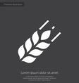 Agriculture premium icon white on dark background vector image