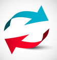 Arrows 3D Set Bent Red and Blue Arrow Logo Design vector image vector image
