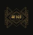 art deco style logo luxury minimal geometric vector image vector image