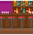 Background of bar counter vector image vector image