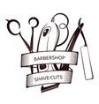barbershop tool set symbol vector image
