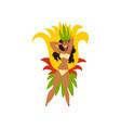 beautiful smiling brazilian girl samba dancer in vector image vector image
