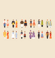 big set of national costumes part 3 vector image vector image