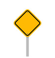blank yellow roadsigns isolated on white backgroun vector image