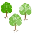 Cartoon green summer tree with a crown of circles vector image vector image