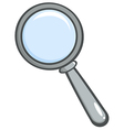 Cartoon magnifying glass vector image
