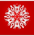 Christmas background with white paper snowflake vector image vector image