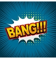 Comic text background bang vector image