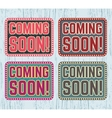 Coming soon signboard vector image vector image