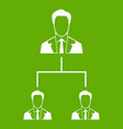 company structure icon green vector image vector image