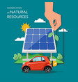 conservation natural resources flat vector image