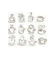 Cup Silhouettes vector image