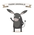 Cute cartoon donkey vector image vector image