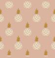 elegant pineapple blush colored fabric wallpaper vector image vector image