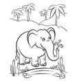 Elephant playing with water vector image vector image