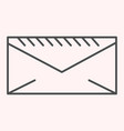 envelope thin line icon mail letter postal vector image vector image