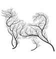 farm animals stylized bushes pet dog vector image vector image
