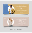 fashion sale banner template vector image vector image