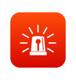 flashing emergency light icon digital red vector image vector image