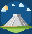 Flat design of Chichen Itza vector image vector image