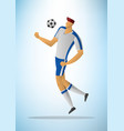 football player 18 vector image vector image