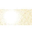 golden glitter confetti vector image vector image