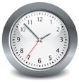gray clock vector image vector image