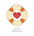 Health insurance sign vector image