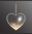 heart with golden sparkles vector image vector image