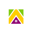 icon house realty construction media logo vector image vector image