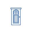 interroom door line icon concept interroom door vector image vector image