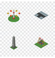 isometric city set of swing attraction crossroad vector image vector image