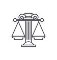 judicial system line icon concept judicial system vector image
