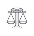 judicial system line icon concept judicial system vector image vector image