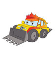 loader at construction site vector image