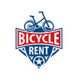 logo for bicycle rental on vector image