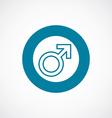 male symbol icon bold blue circle border vector image vector image