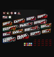 mega set sale tag builder kit typography in sport vector image