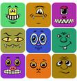 monster smileys set vector image