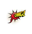 omg cartoon comic book sound blast pop burst vector image vector image