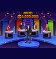 people on game show vector image