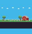 pixel art farm vector image