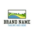 plantation landscape logo vector image