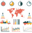 retro infographics set world map and information vector image vector image