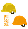 safety helmet flat styleset vector image vector image