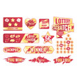 scratch card set vector image