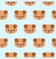 seamless pattern with cute dogs animal vector image vector image