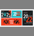 set 2022 new year bannersflyerscards posters vector image