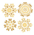 set elements for design stylized flowers vector image vector image