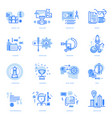 set flat line icons vector image vector image